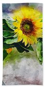 Sunflower Trio Beach Sheet
