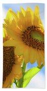 Sunflower Twins Beach Towel
