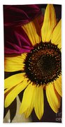 Sunflower With Dahlia Beach Towel