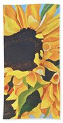 Sunflowers #3 Beach Towel