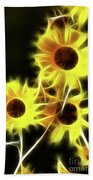 Sunflowers-4955-fractal Beach Towel