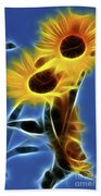Sunflowers-4969-fractal Beach Towel