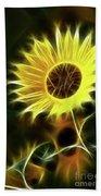 Sunflowers-5200-fractal Beach Towel