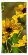 Sunflowers Along The Trail Beach Towel