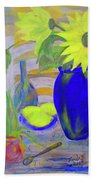 Sunflowers And Lemons Beach Towel