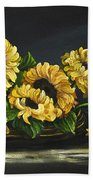 Sunflowers From The Garden Beach Towel
