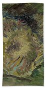 Sunflowers Gone To Seed Paris, August - September 1887 Vincent Van Gogh 1853  1890 Beach Towel