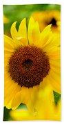 Sunflowers I Beach Towel