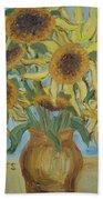 Sunflowers II. Beach Sheet