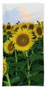 Sunflowers In The Clouds Beach Towel