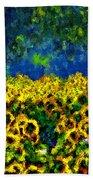Sunflowers No2 Beach Towel