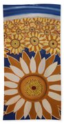 Sunflowers Rich In Blooming Beach Towel