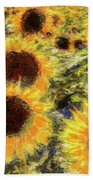 Sunflowers Summer Van Gogh Beach Towel