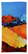 Sunlight In The Valley Beach Towel