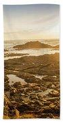 Sunlit Seaside Beach Towel