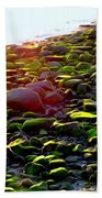 Sunlit Stones Beach Towel