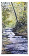 Sunlit Stream Beach Towel