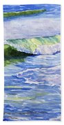 Sunlit Surf Beach Towel