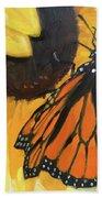 Sunny Butterfly Beach Towel