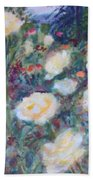 Sunny Day At The Rose Garden Beach Towel