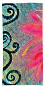 Sunny Day Pink Beach Towel