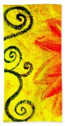 Sunny Day Red Beach Towel