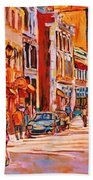 Sunny Downtown  Beach Towel