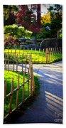 Sunny Garden Path Beach Towel