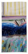 Sunny Reading Beach Towel