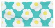 Sunny Side Up Eggs- Art By Linda Woods Beach Sheet
