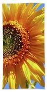 Sunny Sunflower Beach Towel