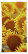 Sunny Sunflower Sunset Beach Towel