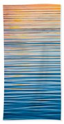 Sunrise Abstract On Calm Waters Beach Towel