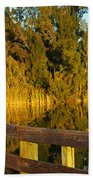 Sunrise At A Lake Beach Towel