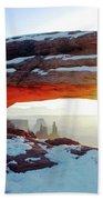 Sunrise At Mesa Arch Beach Towel