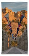 Sunrise At Mount Rushmore Promenade Beach Towel