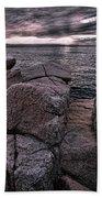 Sunrise At Otter Cliffs #5 Beach Sheet