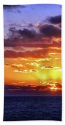 Sunrise At Sea Off The Delmarva Coast Beach Towel