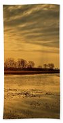 Sunrise At The Big Marsh Beach Towel