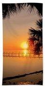 Sunrise At The Pier Beach Towel