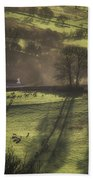Sunrise At The Sheep Farm Beach Towel