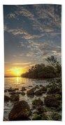 Sunrise At The Sunshine Skyway Beach Towel