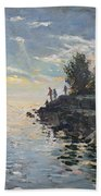 Sunrise Fishing Beach Towel