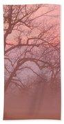 Sunrise Fog Beach Towel