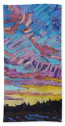 Sunrise Freezing Rain Deformation Zone Beach Towel by Phil Chadwick