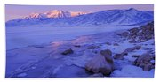 Sunrise Ice Reflection Beach Towel