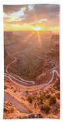 Sunrise In Canyonlands Beach Towel