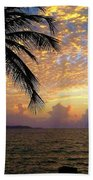 Sunrise In Fajardo, Puerto Rico Beach Sheet