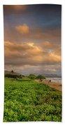 Sunrise Nukolii Beach Kauai Hawaii 7r2_dsc4068_01082018 Beach Towel