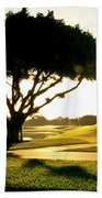 Sunrise On A Golf Course Beach Towel